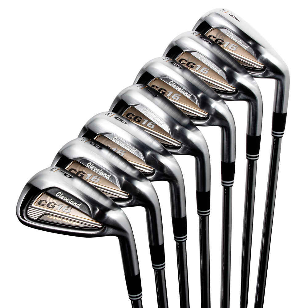 cleveland golf cg16 irons set 4 pw satin chrome online sportitude. Black Bedroom Furniture Sets. Home Design Ideas
